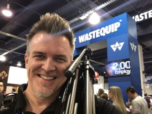 trade show shoot with wastequip